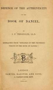 Cover of: Defence of the authenticity of the book of Daniel | Samuel Prideaux Tregelles