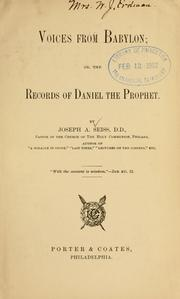Cover of: Voices from Babylon: or, The records of Daniel the prophet