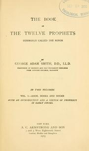 Cover of: The book of the twelve prophets | Sir George Adam Smith