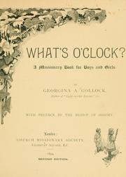 Cover of: What's o'clock?