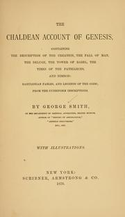 The Chaldean Account of Genesis by Smith, George