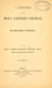 Cover of: A history of the Holy Eastern Church
