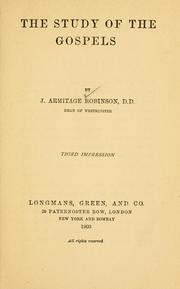 Cover of: The study of the Gospels