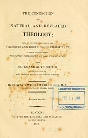 Cover of: connection of natural and revealed theology | Edward William Grinfield