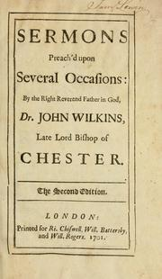Cover of: Sermons preach'd upon several occasions