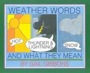 Cover of: Weather words and what they mean: Teaching guide (Informational innovations, experiencing nonfiction in the classroom)