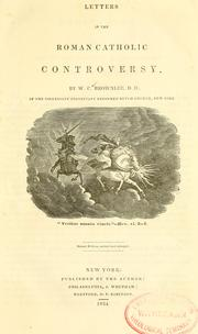 Cover of: Letters in the Roman Catholic controversy