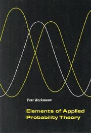 Cover of: Elements of applied probability theory