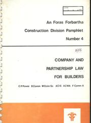 Cover of: Company and partnership law for builders | Cornelius Patrick Power