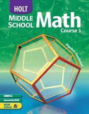 Cover of: Holt Middle School Math: Course 3 |