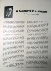 Cover of: El Nacimiento de Maximiliano by Ricardo Lancaster-Jones