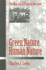 Cover of: Green nature/human nature