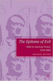 Cover of: The epitome of evil | Michael Butter