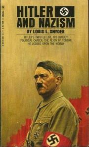 Cover of: Hitler and Nazism