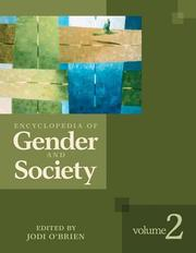 Cover of: Encyclopedia of gender and society | [edited by] Jodi O'Brien.