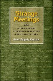 Cover of: Strange meetings