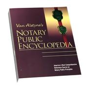 Cover of: Van Alstyne's Notary public encyclopedia