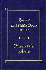 Reverend Levi Phillips Denson (1819-1889) by M. E. Denson