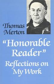 Cover of: Honorable Reader: Reflections on My Work