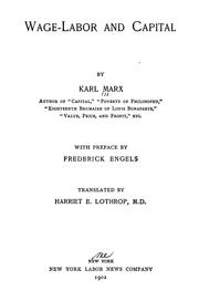Cover of: Lohnarbeit und Kapital by Karl Marx
