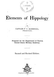 Cover of: Elements of hippology | Francis C. Marshall