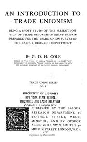 Cover of: An introduction to trade unionism