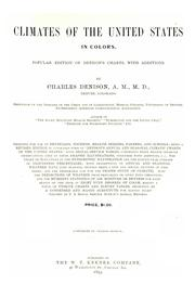 Cover of: Climates of the United States in colors