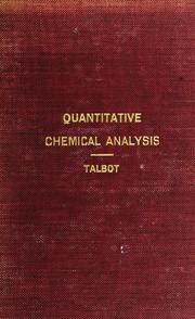 Cover of: introductory course of quantitative chemical analysis | Henry Paul Talbot