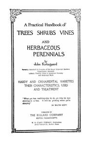 Cover of: practical handbook of trees, shrubs, vines and herbaceous perennials | Kirkegaard, John