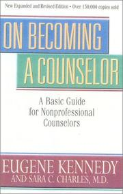 Cover of: On becoming a counselor | Eugene C. Kennedy