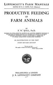 Cover of: Productive feeding of farm animals