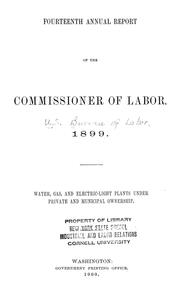 Cover of: Water, gas, and electric-light plants under private and municipal ownership. | United States. Bureau of Labor.
