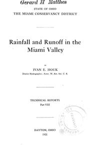 Rainfall and runoff in the Miami valley