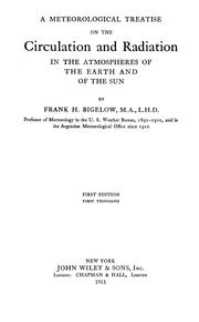 Cover of: A meteorological treatise on the circulation and radiation in the atmospheres of the earth and of the sun
