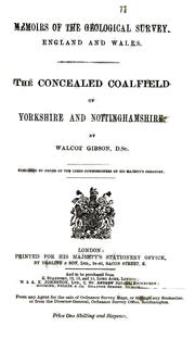 Cover of: The concealed coalfield of Yorkshire and Nottinghamshire