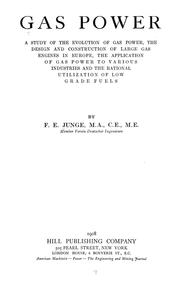 Cover of: Gas power | Franz Erich Junge