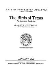 Cover of: The birds of Texas