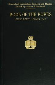 Cover of: The book of the popes (Liber pontificalis)