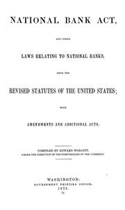 Cover of: The National Bank Act | United States