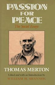 Cover of: Passion for peace: The Social Essays