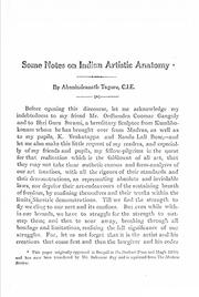 Cover of: Some notes on Indian artistic anatomy. by Abanindranath Tagore