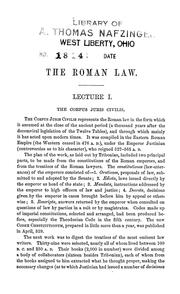 Cover of: Introduction to Roman law, in twelve academical lectures