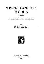 Cover of: Miscellaneous moods in verse