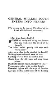 Cover of: General William Booth enters into heaven, and other poems