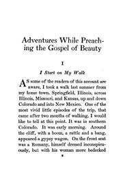 Cover of: Adventures while preaching the gospel of beauty