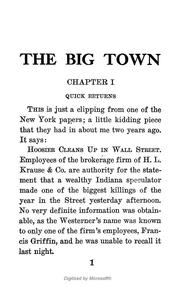 Cover of: The big town