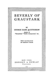 Cover of: Beverly of Graustark | McCutcheon, George Barr