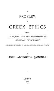 Cover of: A problem in Greek ethics