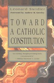 Cover of: Toward a Catholic constitution