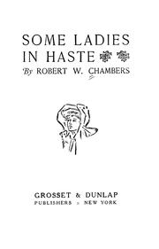 Cover of: Some ladies in haste